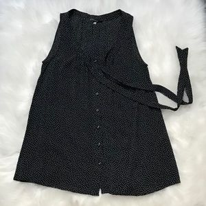 Classic Black & White Polka Dotted Blouse